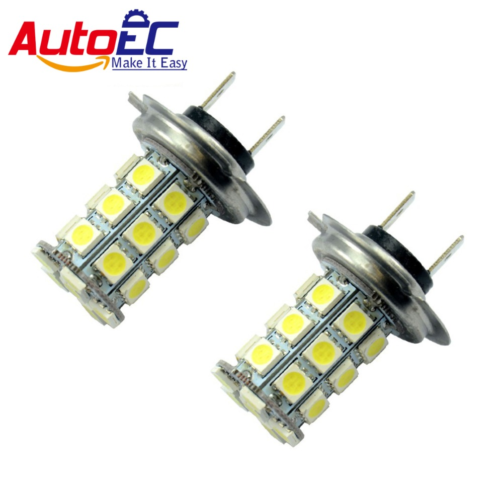 H7 Led Bulb Z1000: AutoEC WHITE H7 Led Headlight Bulb 27 SMD 5050 Car