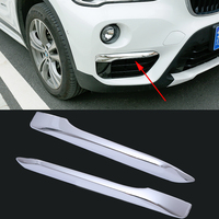 Car Styling 2 Pcs Set ABS Trim Protection Accessories Front Fog Lights Eyebrow Lamp Daytime Running
