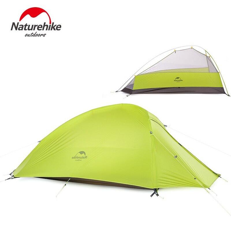 Naturehike 1 местная палатка двухслойная палатка 4 сезона Водонепроницаемый палатка открытый спасательное оборудование nh15t001-t