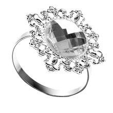 12 шт. кольца для салфеток держатель для салфеток свадебный банкет Ужин Декор серебро