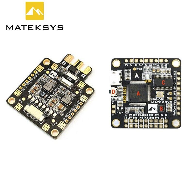 Matek F405-OSD BetaFlight STM32F405 Contrôleur de Vol + Matek FCHUB-6S Hub Power Distribution Conseil APB pour RC Racing Drone
