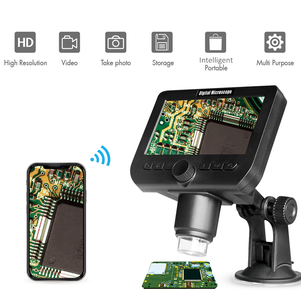 2.0MP <font><b>1000X</b></font> <font><b>USB</b></font> <font><b>Digital</b></font> Electronic <font><b>Microscope</b></font> 4.3