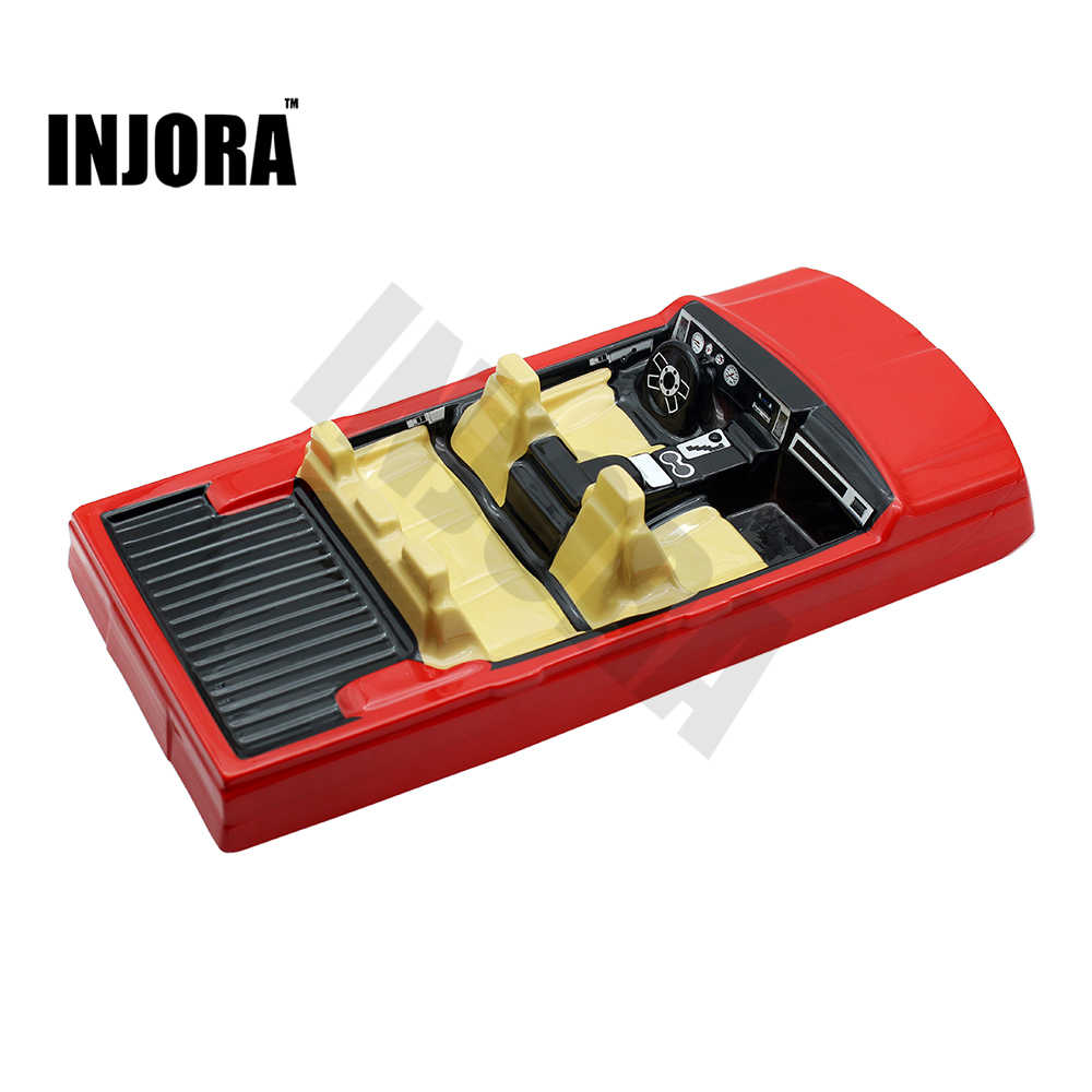 INJORA RC Auto Interieur Decoratie voor 1/10 Axiale SCX10 II 90046 90047 Traxxas TRX4 Body Auto Shell