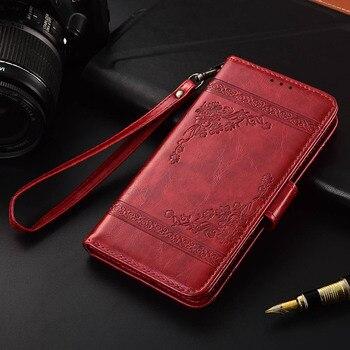 Кожаный чехол-книжка для Digma VOX S513 4G Fundas с цветочным принтом, 100% специальный чехол-кошелек с подставкой и ремешком