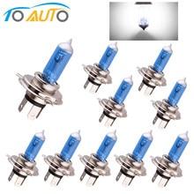 10 Uds bombillas halógenas súper brillante H1 H3 H7 H4 H11 HB3 HB4 HB5 9004, 9005, 9005, 9007 blanco niebla luz 100W 55W coche cabeza de la lámpara 12V