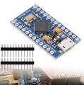 CFSUNBIRD Com o bootloader New Pro Micro para arduino ATmega32U4 5 V/Módulo de 16 MHz com 2 linha pin cabeçalho Para Leonardo