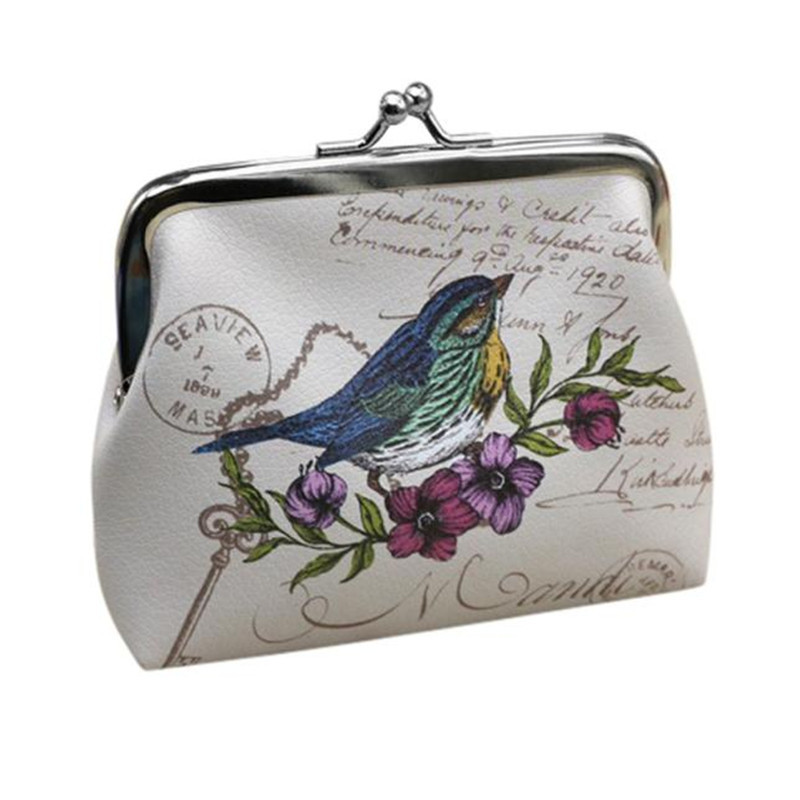 New Arrival Womens Coin Wallet Birds Pettern Card Holder Coin Purse Clutch Handbag Small Hasp Coin Purse Gift DropShipping womens butterfly small wallet card holder coin purse clutch bag handbag comfystyle san 30di