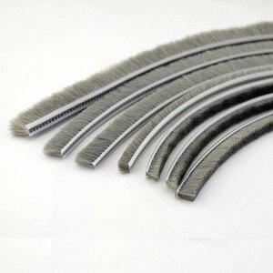Burlete de fieltro excluidor de lana burlete ventana Cerda cepillo de puerta sello 4mm 5mm 6mm 7mm 8mm 10mm 40m gris negro