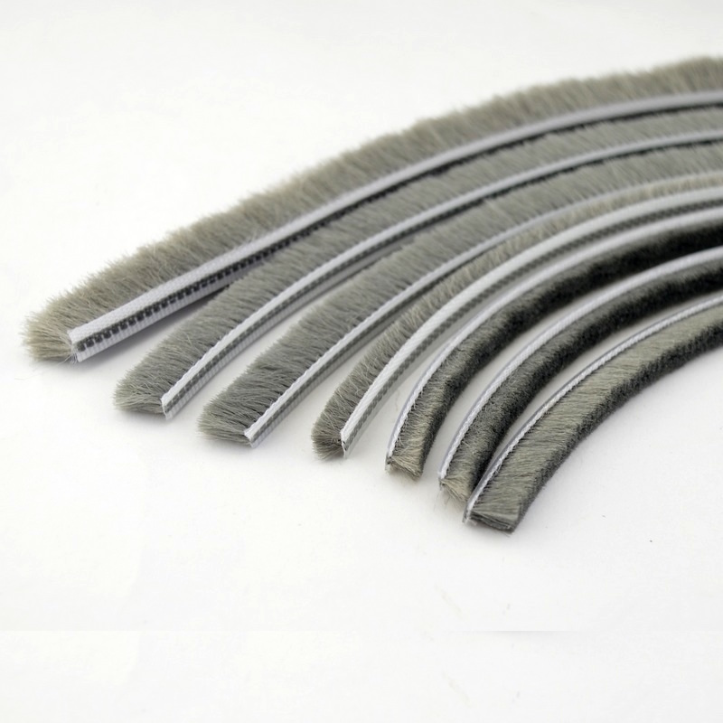 Felt Draught Excluder Wool Pile Weatherstrip Sliding Sash Window Door Brush Seal 5 6 8 X 6 8 12mm 40m Gray Black