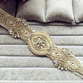 Nueva Moda de Lujo Más Tamaño Crystal pretina de Boda hecho a mano Con Cuentas de Perlas Flor Nupcial Sash cinturón de correas vestido de Noche