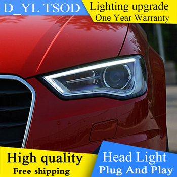 Car Styling Head Lamp case for Audi A3 2014-2017 A3 Headlights A3 LED Headlight DRL Lens Double Beam Bi-Xenon HID Accessories