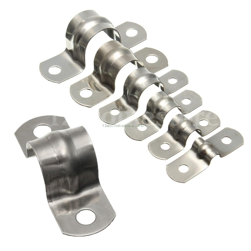 Home & Garden Just 10 X Stainless Steel Tube Clips Stainless Saddles 25mm Tube Electrical Saddles