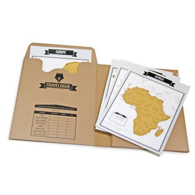 Scratch Map Travelogue Notebook Journal Diary World Map Travel Sticker Card Log Tourist Journal City Stationery Supplies Gifts