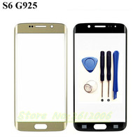 1pcs Front Outer LCD Touch Screen Lens Glass For Samsung Galaxy S6 Edge G925 G925F SM-G925 Parts Replacement Blue/White/Gold