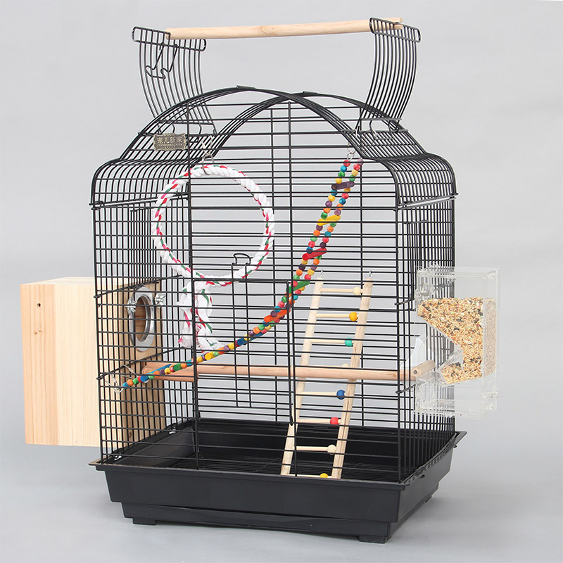 iron bird cages houses with toys breeding nest parakeet cockatiel big large parrot cage birds. Black Bedroom Furniture Sets. Home Design Ideas