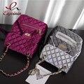 Новые прибытия Шарм классический моды Lingge цепи дизайн персонализированные рюкзак женщин вскользь сумка женская школа сумка 5 цвета