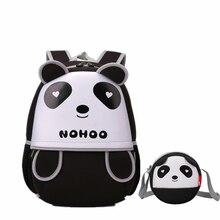 f0294afa71aa2 3D الباندا حقيبة مدرسية s حقائب الاطفال للفتيات الفتيان حقيبة المدرسة  الابتدائية حقيبة مدرسية للماء العلامات