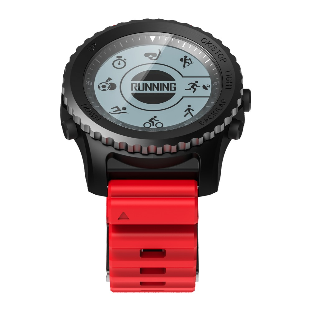 Smartch S968 Bluetooth Smart Watch IP68 Waterproof Support Air Pressure GPS Heart Rate Monitor Smart Bracelet Fitness Tracker Wr
