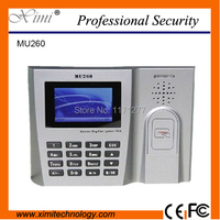 Card time attendance machine MU260 Mi fare 3 inch touch screen TCP/IP communication linux system office wall clock equipment