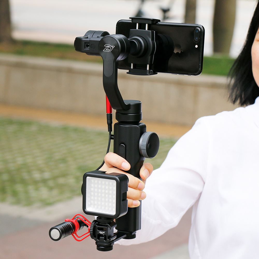 Zhiyun Smooth 4 Smooth Q 3-Axis Gimbal Stabilizer w Boya BY-MM1 Microphone for iPhone Samsung S9 S8 Xiaomi VS DJI OSMO Mobile 2 3