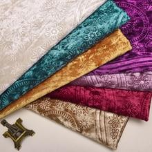European embossed velvet sofa cloth backrest ice soft background thickening DIY fabric