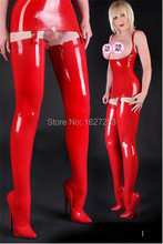 New ! 100% latex rubber stockings rubber thigh high stockings Red size sexy fetish all size customize (Stockings only)