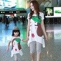 Family look clothing brand algodón cortas camisetas camisetas de los pantalones cortos trajes a juego ropa madre hija clothing conjunto c014