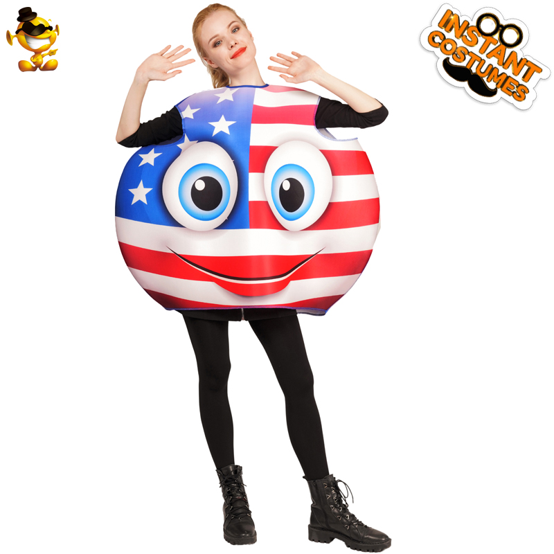 New Style Unisex Flag Emoji Smiling Costumes Performance Carnival&Christmas Party Cosplay Funny Smile Emoticon Costumes