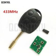 Qcontrol車リモートキースーツ用フォードフュージョンフォーカスモンデオフィエスタ銀河fo21ブレード3ボタン433 mhz