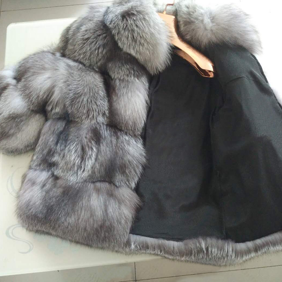 Aliexpress.com : Buy ZIRUNKING Luxury Lady Fur Coat Real Silver ...