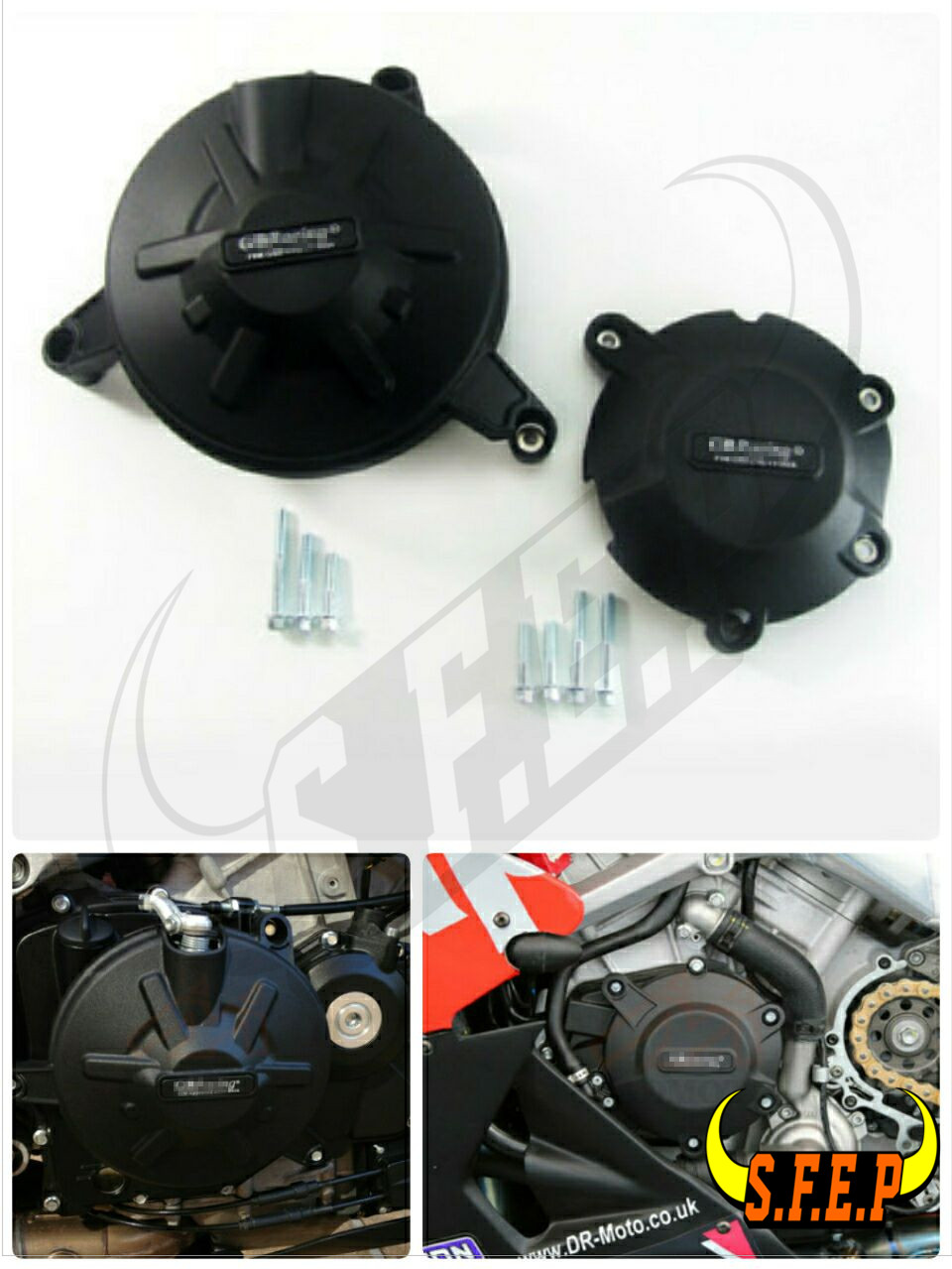 Motorcycle Engine Case Guard Protector Cover GB Racing For GB Racing per Aprilia RSV4 2010 2018