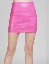 FREE SHIPPING !! High Waisted Women Short PU Leather Skirts JKP997