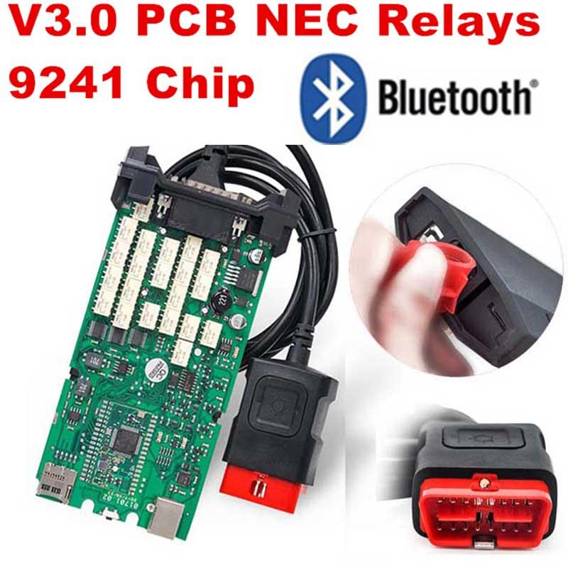 TCS CDP Pro Plus 2015. R3 avec câbles Keygen OBD2 ensemble complet de câbles de voiture Interface outil de Diagnostic câble de Scanner OBD II Multidiag