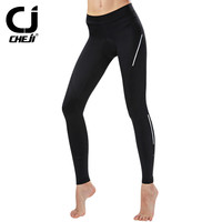 Cheji Women S Cycling Shorts Mountain Bike Bicycle Shorts 3D Padded Long Shorts Tight Outdoor Riding