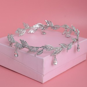 Роскошная Хрустальная корона, свадебные аксессуары для волос, свадебные стразы, Водосберегающие листья, тиара, корона, головная повязка, украшение для волос невесты