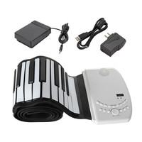 Zebra 88 Key Flexible Foldable Piano Portable Electric Digital Roll Up Keyboard Piano For Keyboard Musical