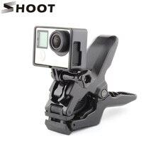Снимать Портативный jaws Flex clamp крепление для GoPro Hero 5 4 сеанса 3 SJCAM SJ4000 Xiaomi Yi 4 К Камера Go Pro зажим для крепления к штативу