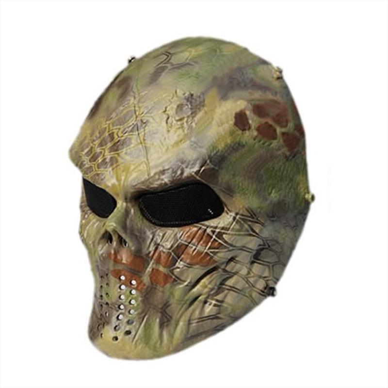 LumiParty Outdoor Full Face Disguise Mask Unisex Skull Mask for Hunting Cs War Game Hall ...