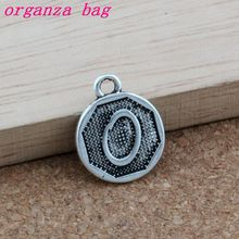 100pcs O  Alphabet Initial alloy Charms Pendants Fashion Jewelry DIY Antique Silver 14.8x28.2MM A-394