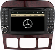 7′ Capacivite Touch Screen 2 DIN Car DVD Player for Benz S Class W220 S280 S320 S350 S400 S420 S430 GPS Stereo Radio
