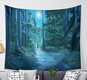 Image 4 - CAMMITEVER Magische Fantastische Wald Wandteppich Hängen Rechteck Wand Hängende Tapestry Dekoration Wand Stoff Wandteppiche
