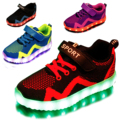 2017 new kids niños niñas cargador usb led light shoes redes sneakers casual shoes transpirable ropa deportiva unisex led kids shoes