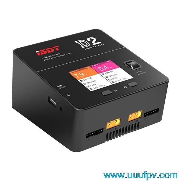 Новое поступление isdt D2 200 Вт 20A AC двухканальный Выход Smart Батарея баланс Зарядное устройство