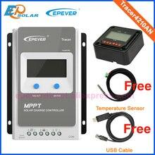 Трассировщик epever MPPT 40A 30A 20A 10A солнечное зарядное устройство контроллер ЖК дисплей 12V24V авто высокая эффективность Regulador 4210AN 3210AN 2210AN