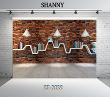 SHANNY Vinyl Custom Photography Backdrops Prop Bookshelf Library theme Photo Studio Background SYO-2039(China)