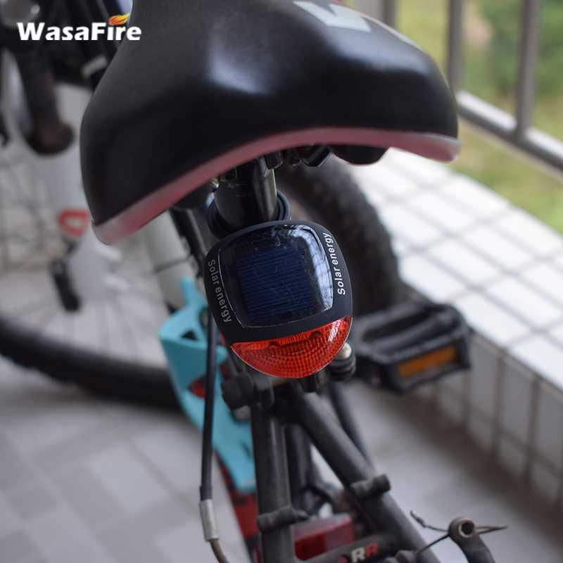 Bicycle Light Solar Powered LED Rear Flashing Light For Bike Lamp Safety Warning