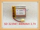 Liter energy battery 3.7V polymer lithium battery 323941 3.7V 440mAh 304040 M6 battery MP4 MP3 small speaker