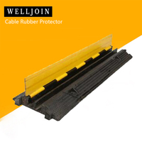 2 Cable Rubber PVC Warehouse Vehicle Electrical Wire Cover Ramp Protector Snake Cord 1000*250*45mm