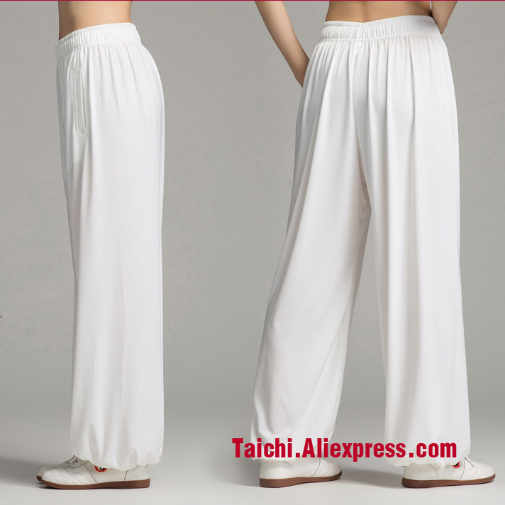 Tai Chi Pants Men And Women Home Furnishing Kungfu Trousers Kung Fu martial Art Pants Yoga Pants eight Colors