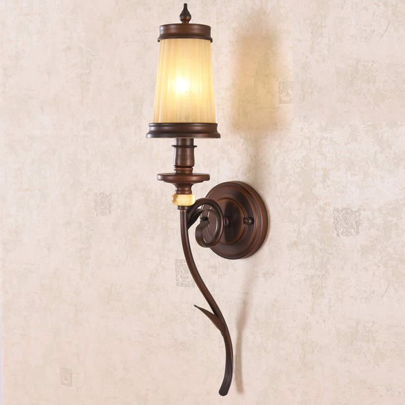 American Style Rural Wall Lamps Iron Living Room Bedroom